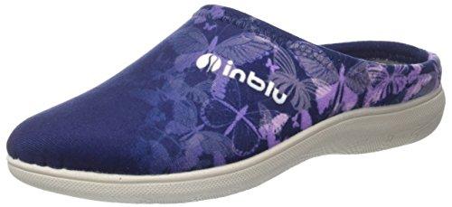 INBLU Bs000035, Pantofole Aperte sulla Caviglia Donna Blu