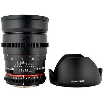 Samyang Cine SYCV35-C 35mm T1.5 Aspherical Wide Angle Cine Lens for Canon VDSLR (Black)