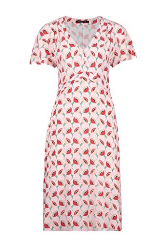 Expresso ELSA Damen Hellrosa Kleid mit Blumen-Print und Einer Länge bis übers Knie, Hellrosa, Gr. 44 (Blumen-print-kleid Für Frauen)