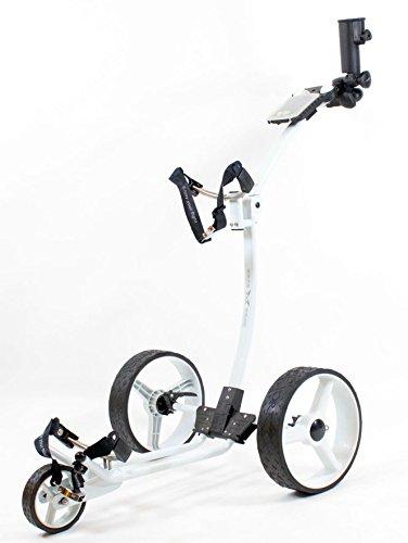 Yorrx Slim Lion Pro 5 PLUS (blanc) chariot de golf / chariot manuel