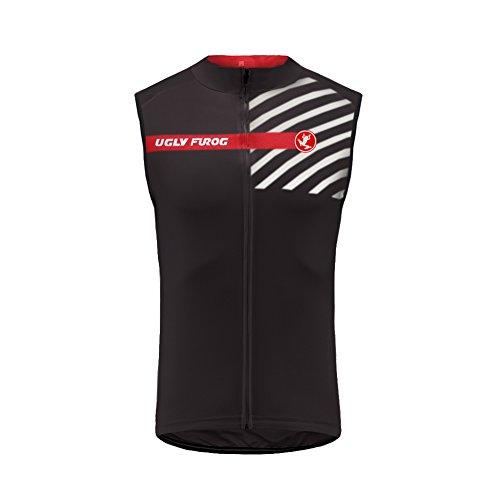 Uglyfrog Designs Fahrradtrikot Herren Ärmellos Team Vest/Radtrikot/Jersey/Atmungsaktiv/Schnelltrocknend/Reflektoren