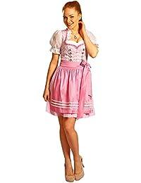 210e2abe65a6f1 Fuchs Trachten Dirndl Beatrice - Rosa 50 cm - Tolles Trachtenkleid mit  Schürze für Damen