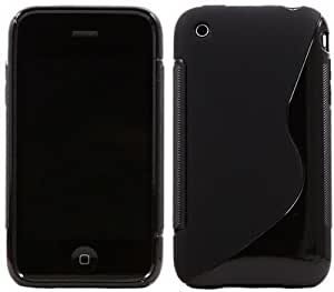 iphone 3g Magic Brand S-Line Black Soft Silicon Back Cover Case