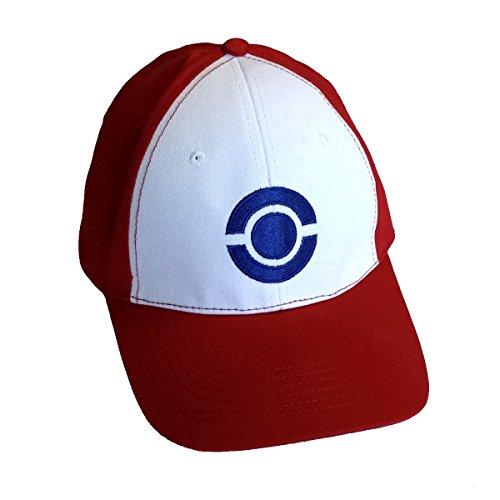 Kostüme Für Erwachsene Qualität (Ash Ketchum Hut Erwachsene Baseball Cap Blue Circle Logo Qualität Pokemon)