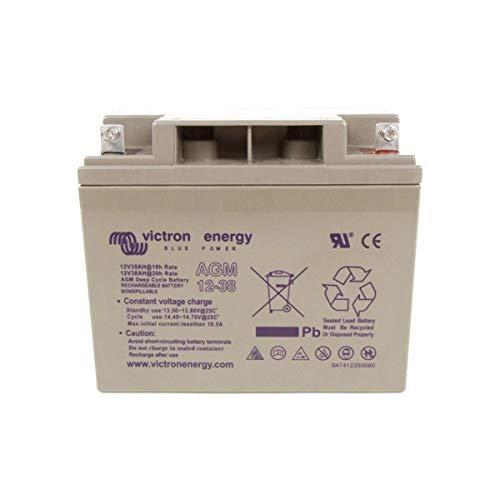 La batería Victron sulfatadas de 12V 38Ah es la más compacta de nuestra gama. Es la elección perfecta para acompañar sus kits de 55W.Las baterías cumplen especificaciones CE y UL. Las bandejas son de ABS resistente al fuego.Tamaño: 197x 165x 170...