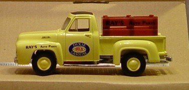 matchbox-collectibles-dixie-gas-parts-and-service-1953-custom-ford-pick-up-f100-yellow-by-matchbox