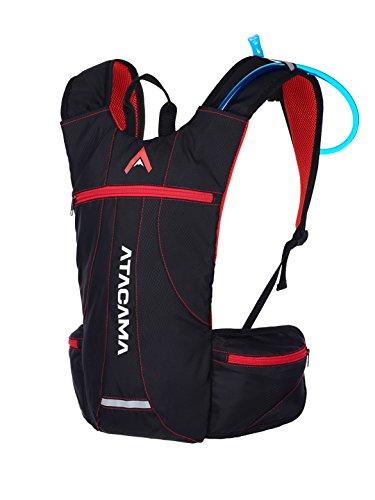 Atacama Trinkrucksack Laufrucksack Fahrradrucksack Kleiner Leichter wasserfester Wanderrucksack, Fach für Trinkblase 2L, ideal zum Joggen, Wandern, Klettern, Langlaufen, Trailrunning, Marathon