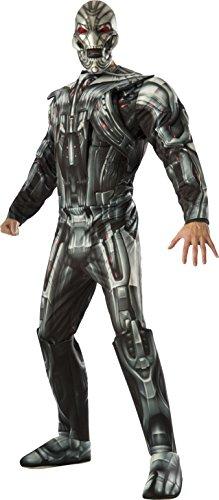 Ultron Kostüm Erwachsenen Für Deluxe - Rubie 's 810300 ,Kostüm Ultron Deluxe - Mehrfarbig (Schwarz / Rot / Grau) - XL