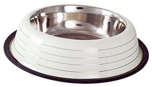 Buckingham Striped Dog Bowl Cream (32oz) from BIIA4