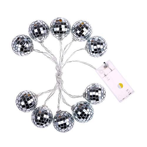 Happy event Glänzende dekorative Ball Licht, Neue 10 LED Glas Patch Ball Glas Ball Licht Pailletten Ball dekoratives Licht, für Urlaub, Partys, Hochzeiten und Raumdekorationen - Pailletten-licht