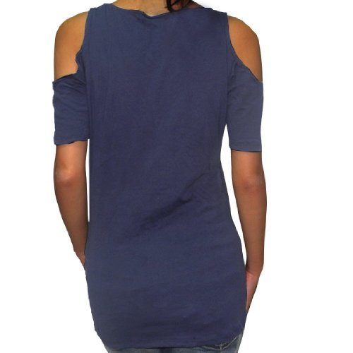 NCAA West Virginia Mountaineers Damen Off-The-Shoulder T-Shirt Blau