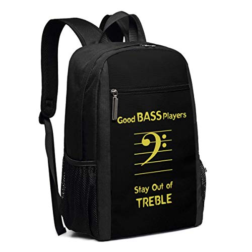 Schulrucksack, Travel Hiking Good Bass Players Stay Out of Treble Backpacks Waterproof Big Student College High School Laptop Shoulder Bag Outdoor Backpacks for Men Women Adults -