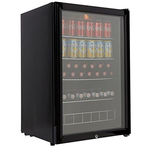 41mhRK7xzNL. SS500  - Cookology CBC130BK Undercounter Drinks Fridge | 54cm Glass Door Beverage Cooler