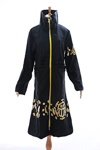 Kawaii-Story OP DE 03 Law Trafalgar One Piece Pirata Cosplay Abrigo Coat Disfraz Costume