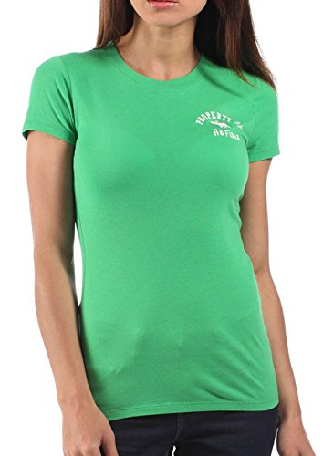 abercrombie-fitch-damen-t-shirt-mit-rundhalsausschnitt-grun-xs