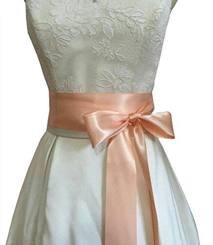 Handgefertigter Hochzeits-Gürtel/Schärpe von Lemandy Gr. Einheitsgröße, blush