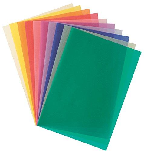 Folia 87409 - Transparentpapier A4 115 g 10 Blatt farbig sortiert