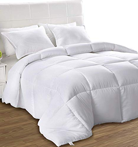 Utopia Bedding- Edredón de Fibra - Primavera-Verano - Fibra Hueca Siliconada, 540 gramo - Blanco (Cama 80)
