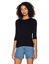 United Colors of Benetton Womens Cotton Pullover (17A1PC1E9010I_Black_L)