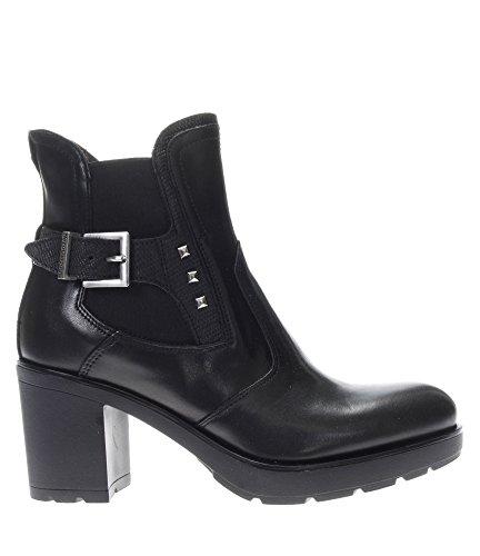 Nero Giardini Bottines Pour Femme A719830d-100 Noir Buffalo Glove Friend Print Tr Noir