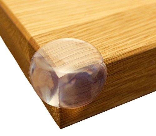 Premium Eckenschutz (Transparent) – hochwertiger Kantenschutz aus transparentem Kunststoff – Die perfekte Kindersicherung für Ihre Tisch-und Möbelecken (Rund, 12 Stück + superstarker Kleber) von Honani (Runde Holz-mauer)