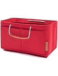 Foregoer - Organizador de bolsas de fieltro para bolso con asas Rojo Rojo Large(LV speedy 40,Fits LV Neverfull GM)