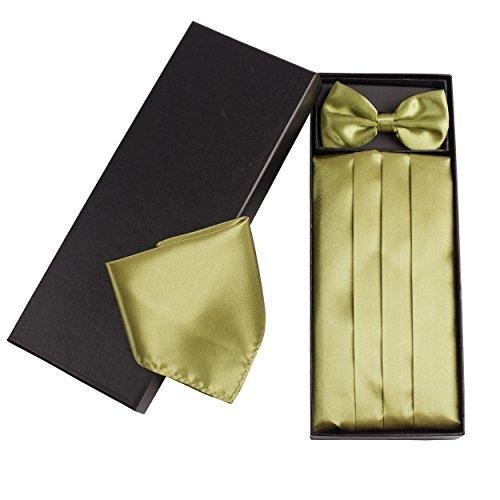 Cummerbund classique pour homme, cravate et pochette carrée, disponibles en différentes couleurs Style 15