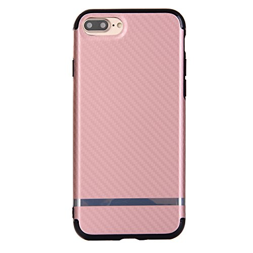 "iPhone 7Plus Hüllen, iPhone 7Plus Premium Softcase, CLTPY Ultradünn Air Cushion Stoßfest Schutz Fall, Luxus Camo Motiv Stoßfest Handytasche für 5.5"" Apple iPhone 7Plus (Nicht iPhone 7) + 1 x Stift - S Rose Gold Grau"