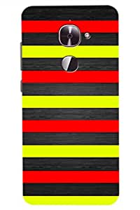 AMAN Red Yellow Black 3D Back Cover for LeEco Le Max 2