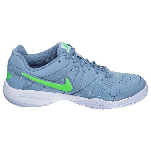 Nike City Court 7 488325 Jungen Tennisschuhe Gris / Verde / Blanco (Blue Grey / Voltage Green-White)