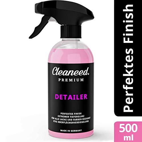Cleaneed Premium Detailer - Lackschnellversiegelung und Trockenwäsche - Made in Germany - Einfacher Auftrag, Extra starker Glanz