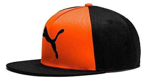 PUMA ftblNXT Cap Kappe, Black-Shocking Orange, OSFA