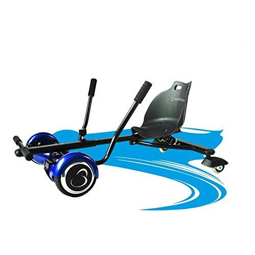 SmartGyro crazy-kart–wahnsinnig hoverkart, anpassbare Halterung Elektro, 2Achse Skate Rollen und Seitenständer, speziell für Freeride, schwarz