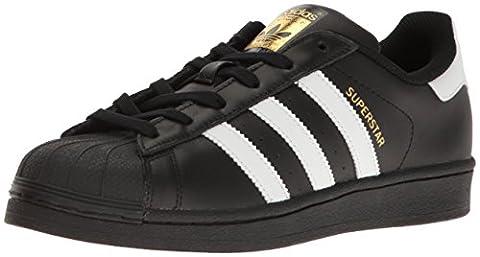 Adidas Originals superstarfashion Sneaker, schwarz - Black/White/Metallic Gold - Größe: