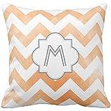 Monogram Chevron throw pillow - orange case2424