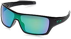 Oakley Men's Turbine Rotor Non-polarized Iridium Rectangular Sunglasses, Black Ink With Jade Iridium, 132 Mm