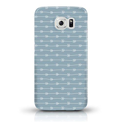 """JUNIWORDS Handyhüllen Slim Case für das iPhone 6/6s - """"Türkises Mandala"""" - Handyhülle, Handycase, Handyschale, Schutzhülle für Ihr Smartphone Weißes Pfeilmuster, blau-grau"""