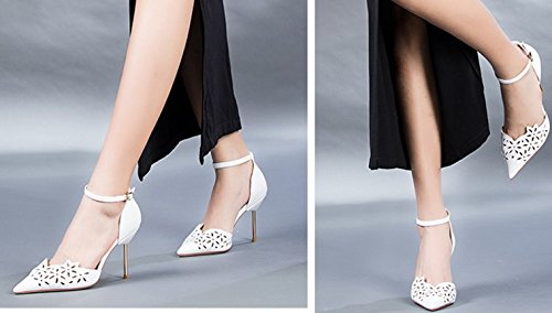 Sandales femme/Summer talons creux/Chaussures de haut talon de belle façon avec une couleur unie A