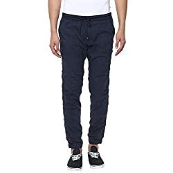 Mufti Mens Navy Low Rise Sports Fit Joggers (36)