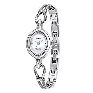 Time100-Damenuhr-Rosegold-Edelstahl-Analog-Armbanduhr-keines-Gehuse-Quarzuhr-Mdchenuhr