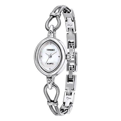 Time100 orologio bracciale da donna movimento al quarzo cinturino acciaio elegante e leggero