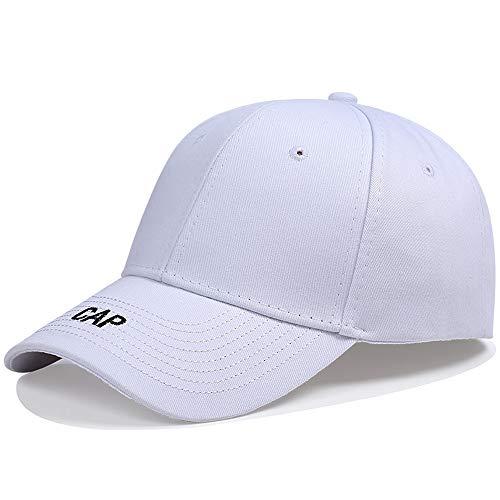 Rennmütze Star Fan Full Hats Männer und Frauen Frühling und Sommer Baseballmütze Koreanische Version Sonnenschutz Black Duck Tongue Cap Wilde Hip-Hop-Mützen Mountr (Color : White)