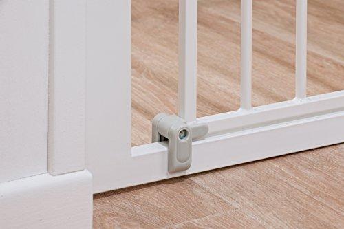 Safety 1st Auto Close Treppenschutzgitter, selbstschließend aus jedem Winkel, Türschutzgitter zum Klemmen, weiß, bis 136 cm verlängerbar - 4