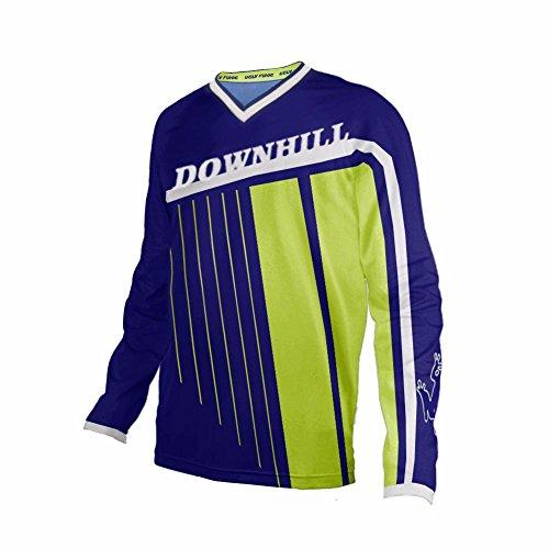 Uglyfrog Bike Wear Atmungsaktiv Trendy Herren Downhill/MTB Jersey Mountain Bike Shirt Fahrradtrikot Langarm Freeride BMX Frühling Top MF10