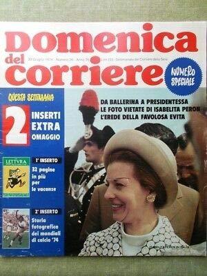 La Domenica del Corriere 30 Giugno 1974 Mondiali Calcio Andy Capp Evita Peron Tv