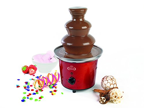 41mhZs61e2L - Giles & Posner EK1525 Electric Chocolate Fountain for Fun Cooking, Red
