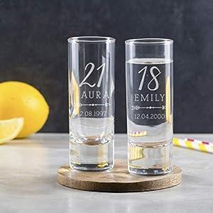 Schnapsglas mit Gravur Geburtstag - 18 Geburtstag Shotglas - 30 Geburtstag Frauen lustig - 40 Geburtstag Geschenk
