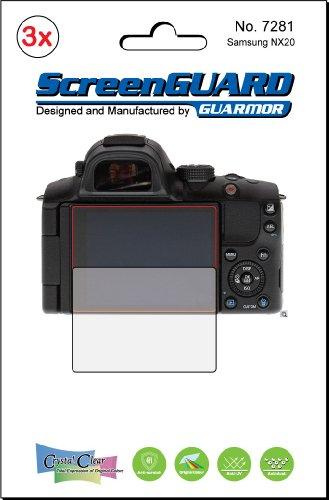 3x Samsung NX20Kamera Premium Clear LCD displayschutzfolie Cover Guard Shield Schutzfolie Kit., exakte Passform, kein Schneiden. (3Stücke von GUARMOR) Lcd-hood Kit
