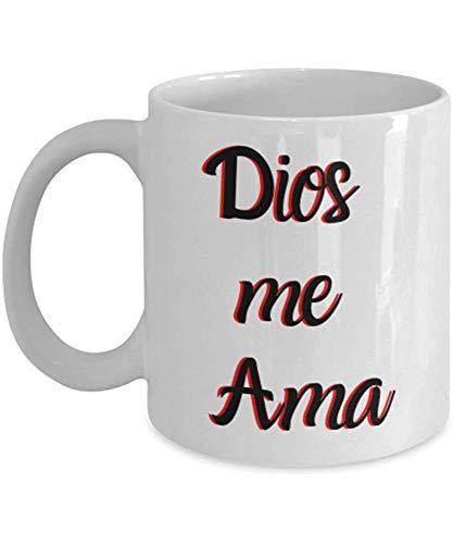 Dios Me Ama - Taza Cristiana En Español- Taza Con Mensaje Cristiano 11Oz- Taza Cristiana