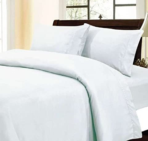 600 Thread Count Egyptian Cotton Solid White Full XL Sheet Set by Fab Linens #Exclusive by Scala